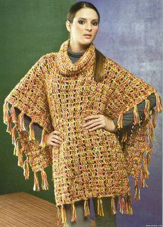 Delicadezas en crochet Gabriela: Ponchos y capas