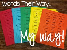 How to organize and implement Words Their Way - resources included