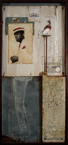 Collage by Jules Arthur~ (Remeniscent of Joseph Cornell. Art Du Collage, Mixed Media Collage, Collages, Joseph Cornell Boxes, Graphic Projects, Found Object Art, Photocollage, Mix Media, Assemblage Art