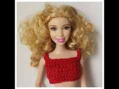 Roupa de crochê para boneca Barbie, doll silkstone, doll monster high, fashion royalty Modelo Me01 - YouTube