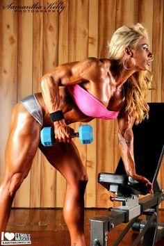 Muscle babe Jill Rudison Workout Pics!