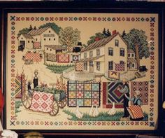 quilt pictures of amish people | House, Amish people getting ready for quilt show by Linda Myers