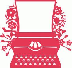 View Design #78480: vintage typewriter with flowers