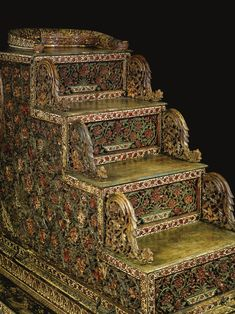 A Rare and important Mughal carved wood throne with Qur'anic verses, India, probably Deccan, dated 1297 AH/1879-80 AD | lot | Sotheby's