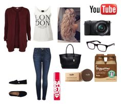 No. 158 by emmurray-md on Polyvore featuring VILA, SELECTED, Topshop, TOMS, Forever New, Ray-Ban, Maybelline and Sony