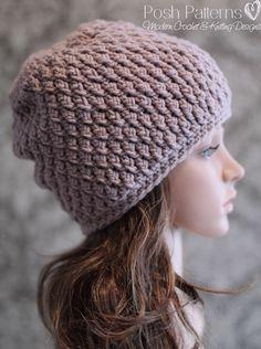Crochet PATTERN Crochet Slouchy Hat Pattern от PoshPatterns
