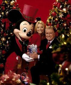 Mickey, Kelly Ripa and Regis Philbin