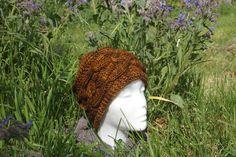Bonnet Or à torsades tricoté main de la boutique CedrikOttemin sur Etsy