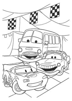 Disney Cars Lightning McQueen Rusteeze Guys Coloring Pages