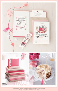 Library baby shower for a girl with free printables! Makes me wish I could have another shower for the next girl...