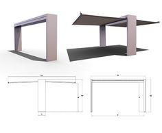 Multifunctional exterior architectonical arc: Gate Shade