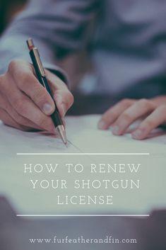 How to Renew Your Shotgun License Interesting Information, Shotgun, Country Life, Fun Facts, Guns, Weapons Guns, Weapons, Country Living, Pistols