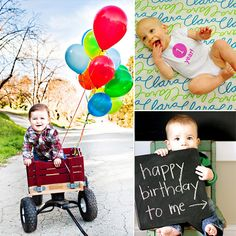 10 pictures to take on baby's 1st birthday @Kelli Lugo this will be coming up soon! But no nakie baby pics...