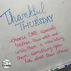 Today my students will reflect on a teacher they are thankful for and share that…