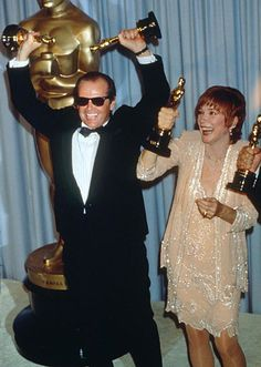 "Jack Nicholson and Shirley MacLaine won the 1983 Best Supporting Actor and Lead Actress Oscars for their performances in ""Terms of Endearment"""