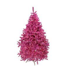 6.5' Pre-Lit Orchid Cedar Pine Artificial Christmas Tree - Clear Lights