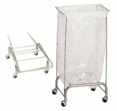 R&B Wire Stationary Collapsible Tension Frame Hamper Chrome Laundry Supply