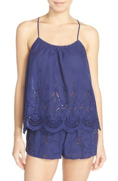 05e9537889 In Bloom by Jonquil Eyelet Cotton Camisole  amp  Tap Shorts available at   Nordstrom Cotton