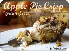 Apple pie crisp {low carb, gluten free}, I  just need to sub out the walnuts and coconut flour for oats and plan approved sweetener and I should be good, I think.
