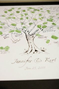 and another tree - guess I like this idea! Tree Wedding, Wedding Guest Book, Wedding Bells, Our Wedding, Crazy Wedding, Thumbprint Tree, Fingerprint Tree, Fingerprint Wedding, Getting Married