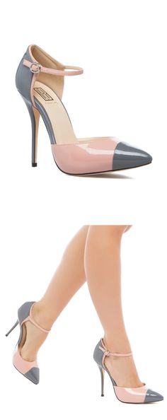 Grey & Blush Pumps