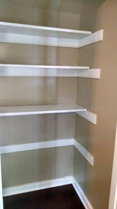 Add shelving in laundry area to double as pantry?