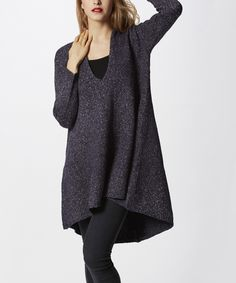 This Simply Couture Gray Swing V-Neck Tunic by Simply Couture is perfect! #zulilyfinds