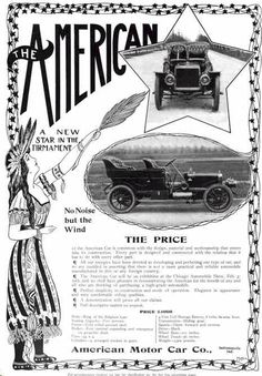 1906 American Automobile Advertisement