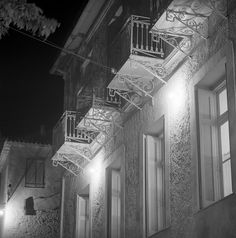 greece may 1959 infrared photo of unidentified building Galleria Vittorio Emanuele Ii, Milan Cathedral, House Doors, Athens, Old Houses, Greece, Landscape, Building, Travel