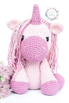 Pink unicorn stuffed animal, plush unicorn, unicorn toy, crochet unicorn, crocheted soft animal doll, amigurumi unicorn, nursery decor, Unicorn Stuffed Animal, Crochet Baby Toys, Crochet Unicorn, Nursery Decor, Hello Kitty, Plush, Teddy Bear, Dolls, Etsy