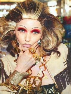 """Haute Mess"" | Model: Abbey Lee Kershaw, Photographer: Steven Meisel, Vogue Italia, March 2012"