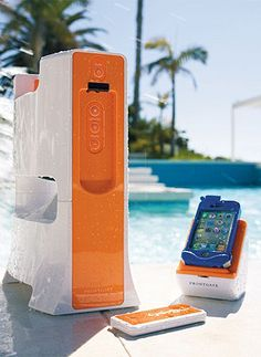 This sleek, splash-proof Wireless Outdoor Tower Speaker lets you stream your favorite digital music while enjoying the day on the water.