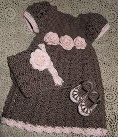 Crochet Child Costume Crochet For Kids: Chocolate Kiss - Free Sample Crochet Baby Dress Crochet Dress Girl, Crochet Girls, Crochet Baby Clothes, Cute Crochet, Crochet For Kids, Crochet Lace, Crochet Dresses, Crochet Outfits, Simple Crochet