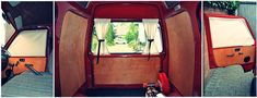 Seitenwände aus Sperrholz im Bus