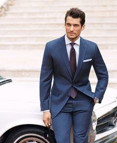David Gandy Classy blue suit