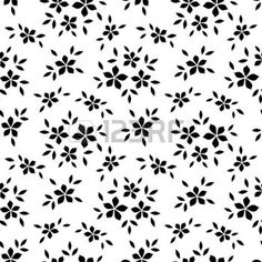 pattern: Seamless pattern with flowers. Vector illustration.