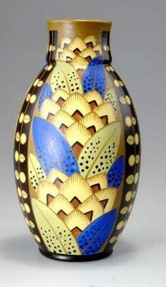 Boch Freres Art Deco vase c1929