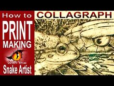 Simple and easy, printmaking with cardboard. Video created by the artist, original music by Chas Flowers and used with his permission. Linocut Prints, Art Prints, Collagraph Printmaking, Tunnel Book, Linoleum Block Printing, 4th Grade Art, Original Music, Artist At Work, Unique Art