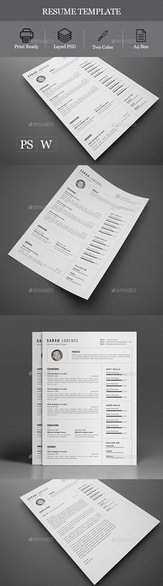 #Resume - Resumes #Stationery Download here: https://graphicriver.net/item/resume/19756379?ref=alena994