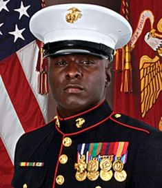 Staff Sergeant Aubrey L. is a United States Marine who was awarded the Navy Cross for his heroic actions in which he rescued two fellow Marines during an enemy ambush in Iraq in McDade, a native of Fort Worth, Texas, received the Departm