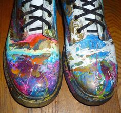 Hand Painted Embellished Dr. Martens Leather 8 Hole Boots US 10 UK 8 EU 42 ae3ead17083c9