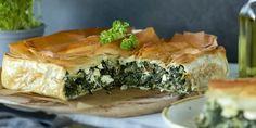 Zelené dobroty na Zelený štvrtok Bechamel, Spanakopita, Greek Recipes, Feta, Food And Drink, Ethnic Recipes, Pastries, Spinach, Egg Wash