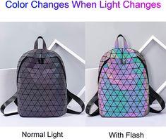 Geometrischer Rucksack funkelt bei Licht in allen