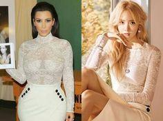 Who Wore It Better?!  Kim Kardashian X Im Yoona 👉 Yoona ❤  #WhoWoreItBetter #kimkardashian #yoona
