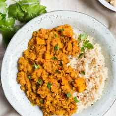 Sweet Potato, Lentil & Coconut Curry Recipe · Deliciously Ella Lentil Recipes, Curry Recipes, Veggie Recipes, Vegetarian Recipes, Healthy Recipes, Healthy Cooking, Healthy Eating, Cooking Recipes, Healthy Food