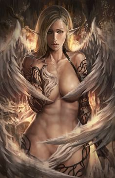 "sosolo: "" Angel Of Sin by Shizen1102 """