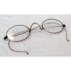 5bd7e977c0ec Civil War Reenactor Oval Wire Rim Eyeglasses Saddle Bridge Cable Temples  Antique - pinned by pin4etsy