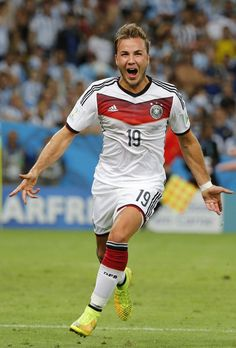 Götze scored the Goal against Argentina!