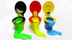 Toilet Potty Slime Surprise Toys Fart - Learn Colors Song Nursery Rhymes!