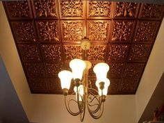The Advantages Using Plastic Ceiling Tiles: Plastic Ceiling Tiles That Look Like Tin With Lighting ~ gamesbadge.com Floor Inspiration